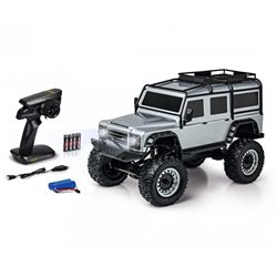 Carson 1:8 Land Rover Defender RTR silver