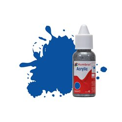Humbrol 14ml Acrylic 14  French Blue Gloss