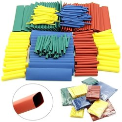 Heat Shrink Tubing Cable Tube Sleeving Kit Wrap Wire Set 4 Colors 8 Sizes 164pcs