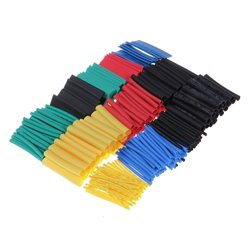 Heat Shrink Tubing Cable Tube Sleeving Kit Wrap Wire Set 4 Colors 8 Sizes 164pcs 2