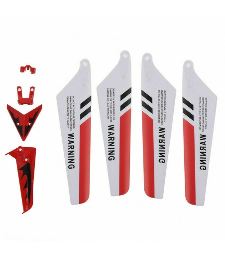 Syma Full Set Replacement Parts for Syma S107 RC Helicopter,Main Blades,Main B4 2