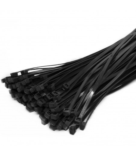 100 Cable Ties Black & Natural Cable Tie Wraps / Zip Ties 3.5 mm X 200 mm