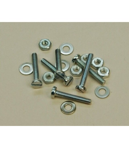 M2 x 12mm pan screw ,nuts and washers x 6