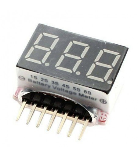 LED Display 1S-6S Cells Lipo Battery Voltage Indicator Meter