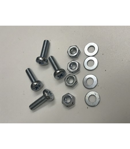 M3 X 10MM  Pan head Screws nuts and washers x 6