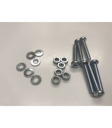 M4 X 25MM pan head screws nuts and washers x 4