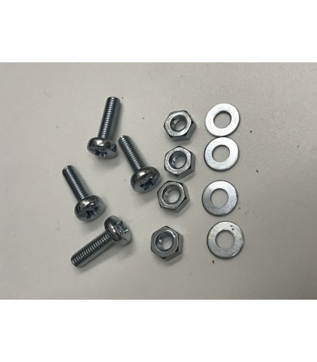 m6 x 30mm Pan Screw head nuts and washers x 4