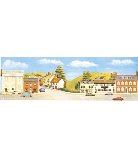 Peco Medium background Market Town Extensions 178mm x 559mm (7in x 22in)