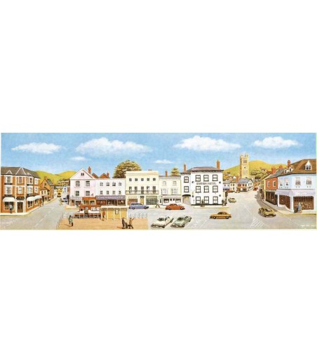Peco Medium background Market Town 178mm x 559mm (7in x 22in)