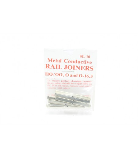 Peco SL-10 Metal rail joiners/fishplates (for code 100 rails inc Hornby, Peco & Peco Streamline).