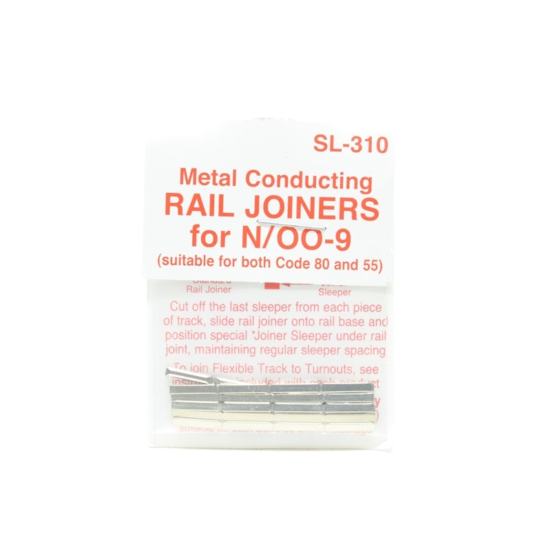 Peco Products SL-310 Rail Joiners/Fishplates for N & OO9 gauge (24 per pack)
