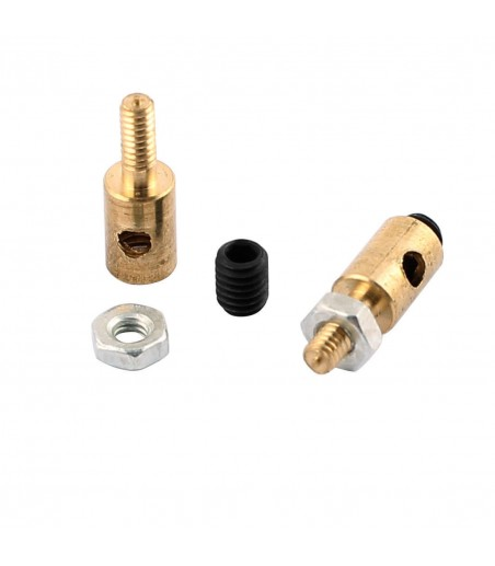 2.1 MM  x 11mm Copper Linkage Stoppers RC Push Rod Keepers w Screws