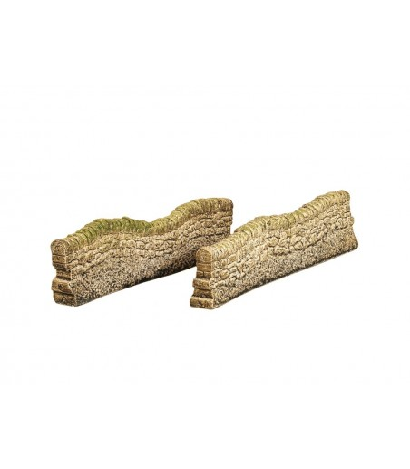 HARBURN HOBBIES Dry Stone Contoured Wall - Extension (set of 2) OO Gauge CG216