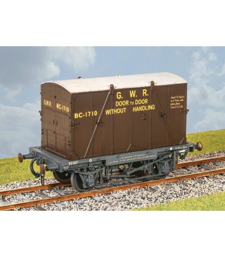 "PARKSIDE GWR Container Wagon With ""B"" Cont. 0 Gauge PS39"