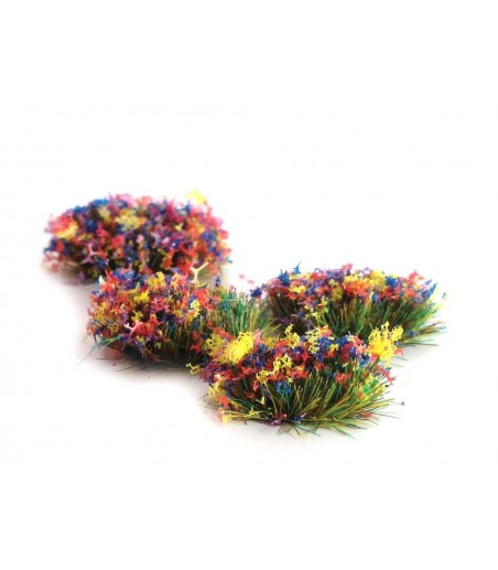 Peco 4mm Self Adhesive Grass Tufts with Flower All Gauges PSG-51