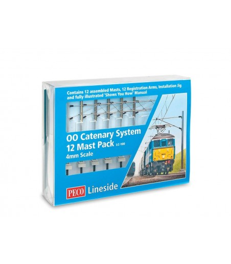 Peco Catenary System  Startup Pack OO/HO Gauge LC-100
