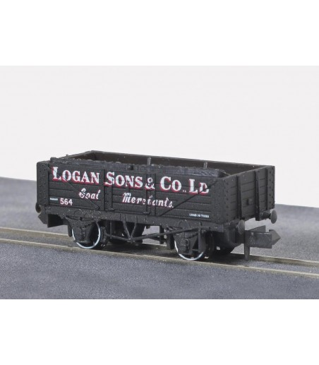 Peco Coal, 5 plank, Logan & Sons Co. N Gauge NR-P480