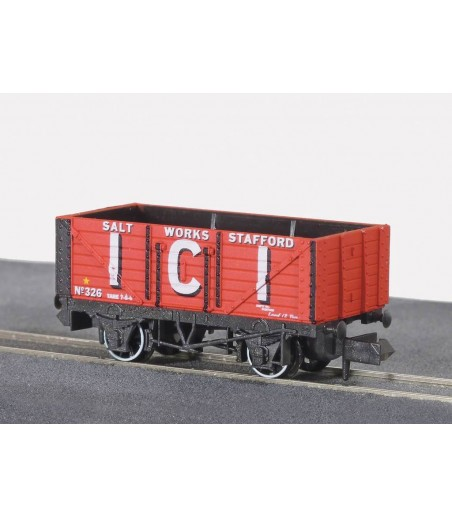 Peco Coal, 7 plank, I.C.ISalt Works, red, No.326 N Gauge NR-P102A