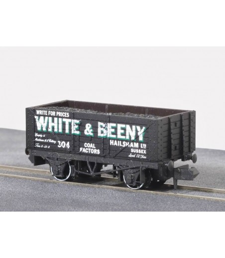 Peco Coal, 7 plank, White & Beeny, black, No.304 N Gauge NR-P103