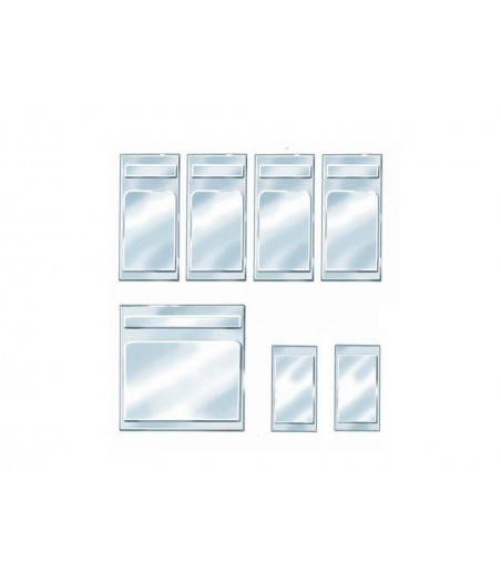 Peco Coach Window Panes, clear O-16.5 Gauge OR-54