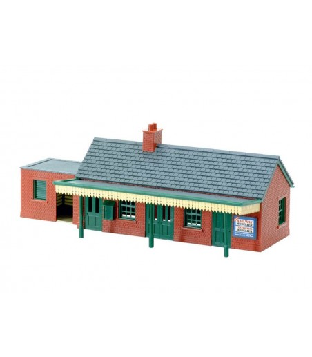 Peco Country Station Building, brick type N Gauge NB-12