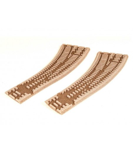 Peco Curved Double Radius L/H Turnout Inlay OO/HO Gauge ST-260