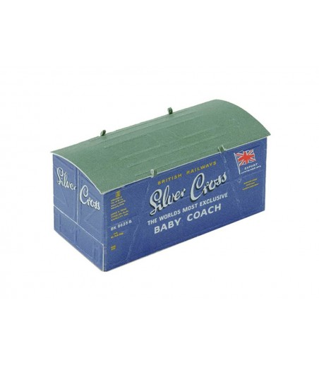Peco Container, Silver Cross, blue OO Gauge R-66SC