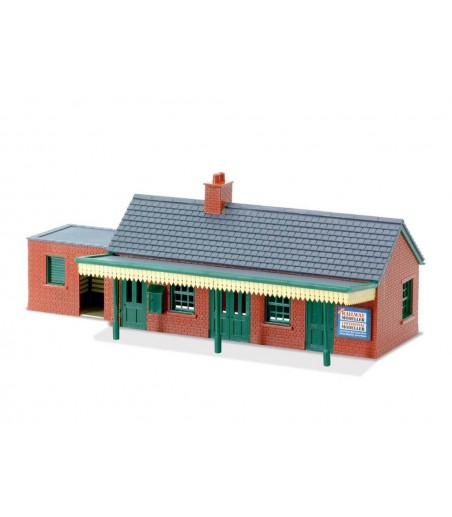 Peco Country Station Building, brick type OO/HO Gauge LK-12