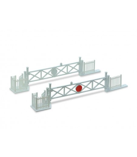 Peco Level Crossing Gates (4) with Wicket Gates and Fencing N Gauge NB-50