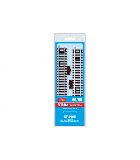 Peco Isolating Standard Straight & Switch, 168mm (6⅝in) long OO/HO Gauge ST-2005