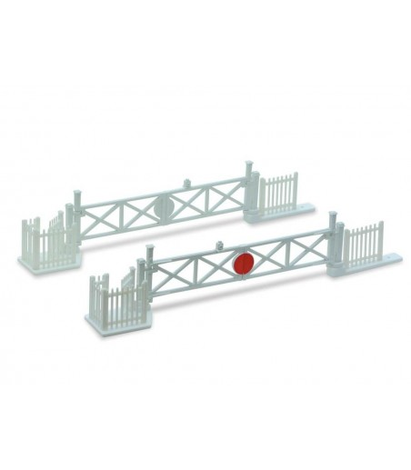 Peco Level Crossing Gates (4) with Wicket Gates and Fencing     OO Gauge LK-50