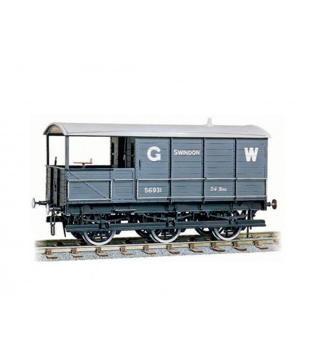 Peco GWR 24ton Six Wheel Brake Van O Gauge W-603