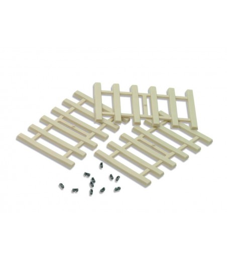 Peco Moulded Concrete Type Sleepers and separate rail fixings All Gauges IL-121
