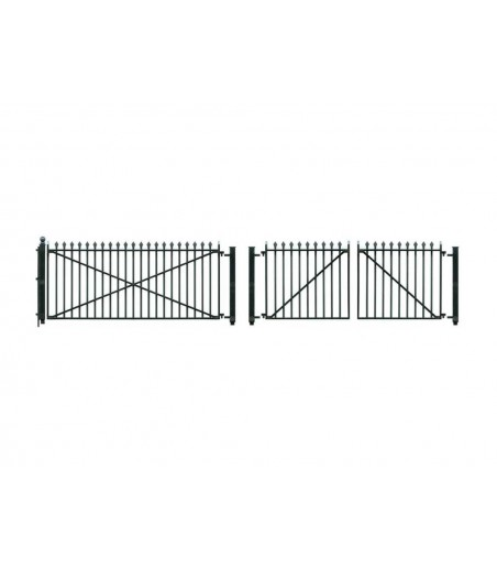 Peco O Gauge GWR Spear Fencing - Ramps & Gates    Fencing(890mm)1 Lge 2 sml Gates O Gauge LK-742
