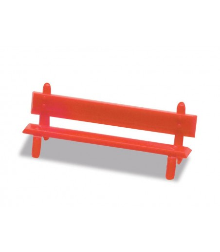 Peco Platform Seats, red OO Gauge LK-26