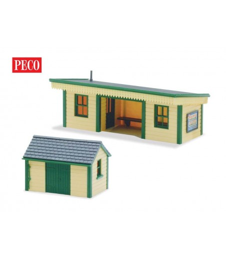 Peco Platform Shelter & Hut, timber type OO/HO Gauge LK-16