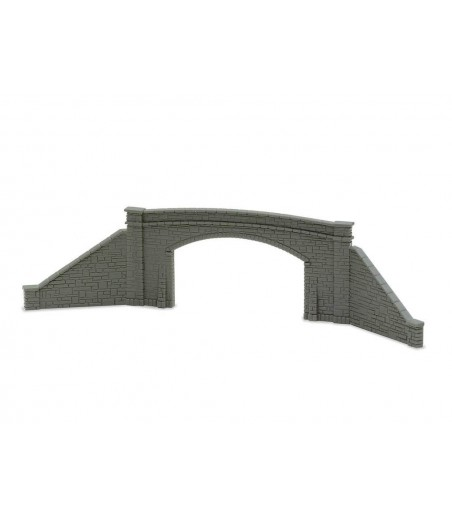 Peco Road Bridge Sides, stone type, double track N Gauge NB-34