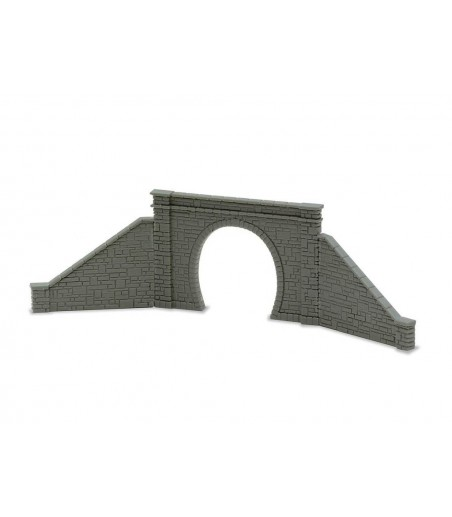 Peco Tunnel Mouth & Walls, stone type, single track N Gauge NB-31