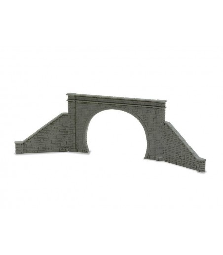 Peco Tunnel Mouth & Walls, stone type, double track N Gauge NB-32