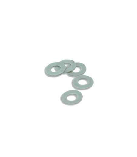 Peco Washers, type OO/O/8, fibre, 3.175mm (⅛in) dia. Hole                             approx. 50 OO Gauge R-9