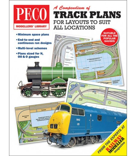 Peco Track Plans for Layouts to Suit all Locations All Gauges PM-202