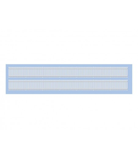 Ratio GWR Trackside Fencing, White, Straights N Gauge 244