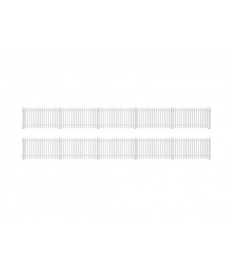 Ratio GWR Station Fencing, White (straight only) OO/HO Gauge 421