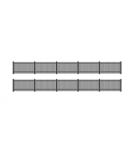 Ratio GWR Station Fencing, Black (straight only) OO/HO Gauge 422