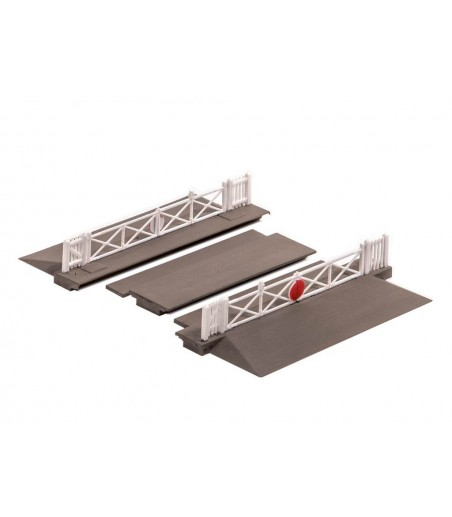 Ratio Level crossing with Gates N Gauge 234
