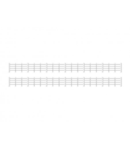Ratio Lineside fencing, White (4 bar) OO/HO Gauge 424