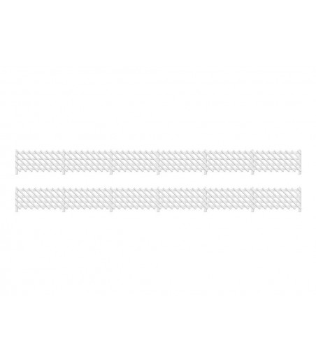 Ratio LMS (MR) Station Fencing, white OO/HO Gauge 426