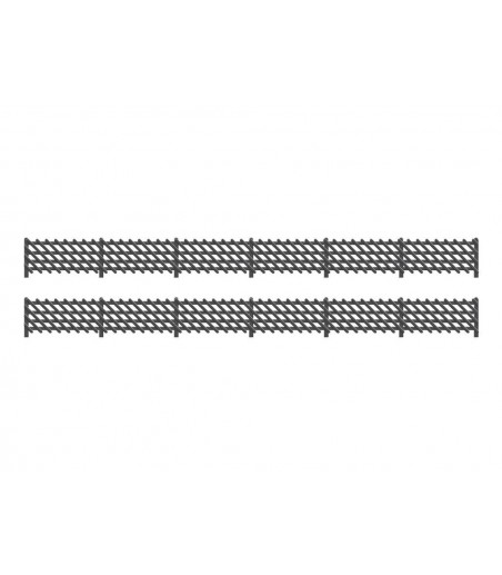 Ratio LMS (MR) Station Fencing, Black OO/HO Gauge 427