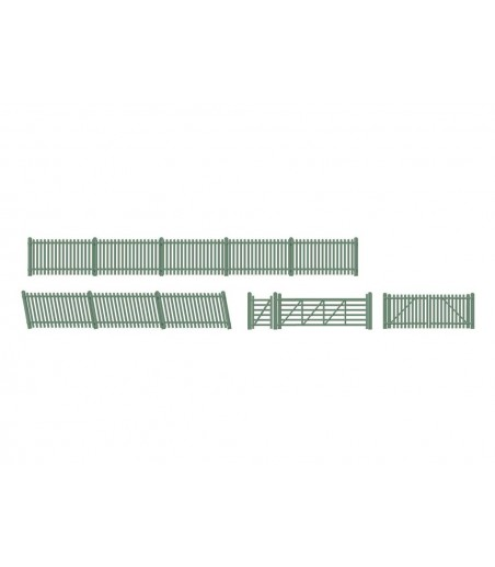 Ratio Picket fencing, green (inc. Gates & ramps) OO/HO Gauge 430