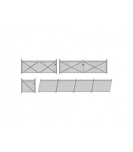 Ratio Spear Fencing (gates & ramps) OO/HO Gauge 435